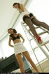 Give two naughty girls a ladder, and be rewarded…