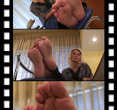 Gorgeous delightful soles and toes for tickling game of sensation