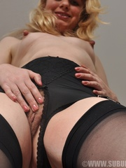 Nasty bitch in black stockings with - Sexy Women in Lingerie - Picture 6