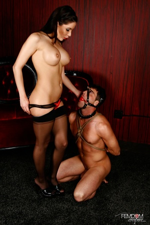 Guy with hands tied and face restraint g - XXX Dessert - Picture 2