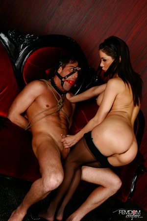 Guy with hands tied and face restraint g - XXX Dessert - Picture 6
