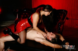 Hot bad girl punish guy with hands tied  - XXX Dessert - Picture 2