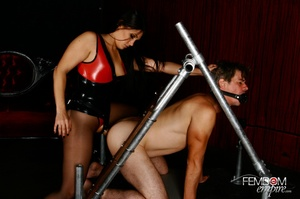 Hot bad girl punish guy with hands tied  - XXX Dessert - Picture 15