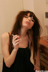 Smoking hot teen lingerie girl strips bra and…
