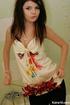 Flower loving sweet young blode girl taking…