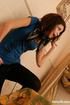 Stunning beauty sweet hot teen babe in blue tops…
