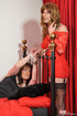 Naughty crossdresser gets tied up for another to…