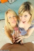 Matured blonde mama happy to teach her blonde how…