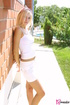 Stunningly charming blond goes wild in her white…