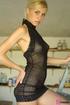 An exquisite boobie display from a black seethru…
