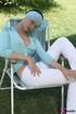 A stylish slut in stunning lightblue blouse…