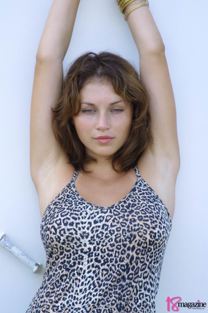 A sexy goddess in her leopard printed dress seductively showing her body curves - XXXonXXX - Pic 1