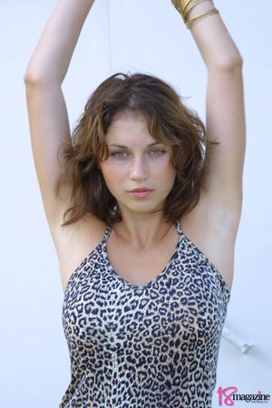 A sexy goddess in her leopard printed dress seductively showing her body curves - XXXonXXX - Pic 5
