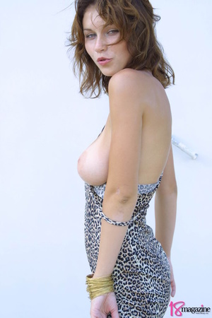 A sexy goddess in her leopard printed dress seductively showing her body curves - XXXonXXX - Pic 7