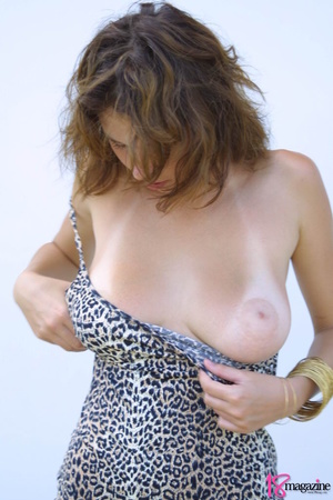 A sexy goddess in her leopard printed dress seductively showing her body curves - XXXonXXX - Pic 8
