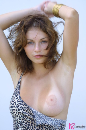 A sexy goddess in her leopard printed dress seductively showing her body curves - XXXonXXX - Pic 10