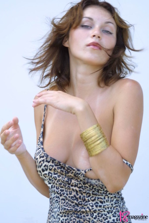 A sexy goddess in her leopard printed dress seductively showing her body curves - XXXonXXX - Pic 11