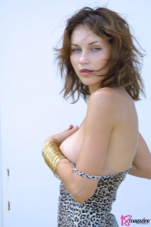 A sexy goddess in her leopard printed dress seductively showing her body curves - XXXonXXX - Pic 12