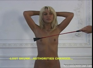 The tormented women get to stand with arms behind their heads while the two guys flick whips on their shaved pussy and cute tits - XXXonXXX - Pic 4