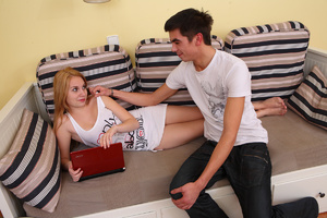 Sasha has been itching for a nice fuck for some time now, and Filip is the man to scratch her itch, he knows just what type of sex is this horny teen chick into. - XXXonXXX - Pic 1