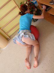 Cute redhead teen Alka is trying to work on her - XXXonXXX - Pic 3