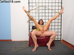 18 yo teen babe gets roped and collared - XXX Dessert - Picture 13