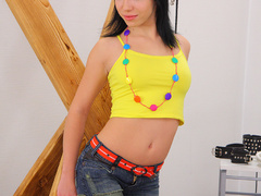 Dark Haired teen girl Eva forced to take - XXX Dessert - Picture 2