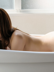Sweet Asian girl in bathtub with - Sexy Women in Lingerie - Picture 8