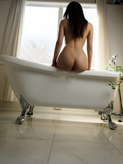 Sweet Asian girl in bathtub with - Sexy Women in Lingerie - Picture 10