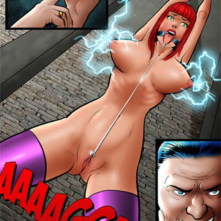 Poor ginger whore in purple stockings - BDSM Art Collection - Pic 2