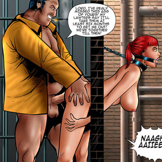 Ponytailed ginger slave choked when - BDSM Art Collection - Pic 3