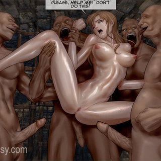 Black naked slaves torturing badly - BDSM Art Collection - Pic 1