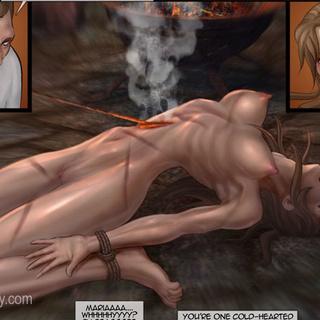 Poor enslaved girls in boots tortured - BDSM Art Collection - Pic 2