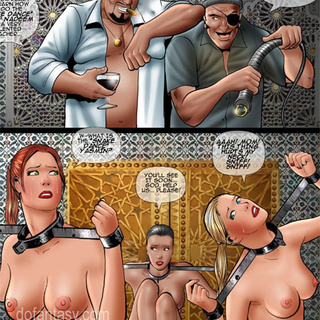 Enslaved girls in boots banged with - BDSM Art Collection - Pic 4