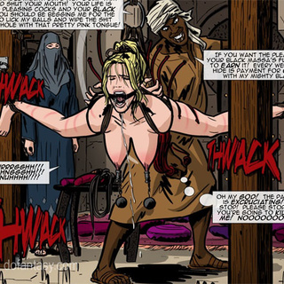 Black pervert jeering bound and - BDSM Art Collection - Pic 1