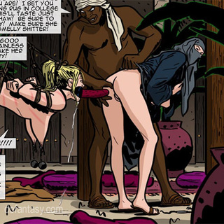 Black pervert jeering bound and - BDSM Art Collection - Pic 4