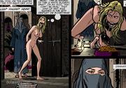 bound suspended slave girl