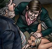 Pervert nerd gets high watching stinky dipso fucking his blonde slave's