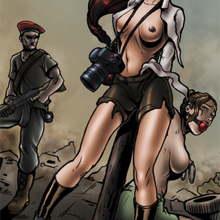 Military reporter chick gets captured - BDSM Art Collection - Pic 1