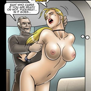Busty blonde chick enslaved for rough - BDSM Art Collection - Pic 3