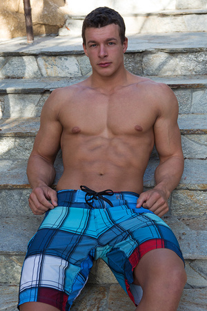 Sexy muscular guy adores demonstrating h - XXX Dessert - Picture 19