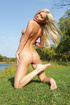 Skinny blonde teen from Russia gets high posing…