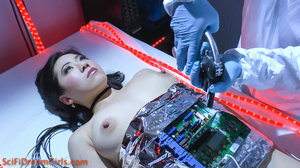 Gorgeously black haired fembot nakedly being pussy checked - XXXonXXX - Pic 11