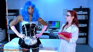 Black model fembot got her juicy cunt scrutinized for sensual reaction - XXXonXXX - Pic 2