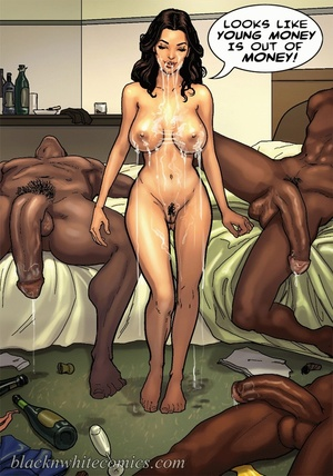 White whore enjoys three black donkeys - XXX Dessert - Picture 3