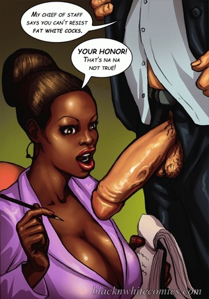 Busty black beauty swallows white dick a - XXX Dessert - Picture 2