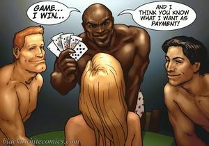 Blonde slut gets 4some interracial fucki - XXX Dessert - Picture 1
