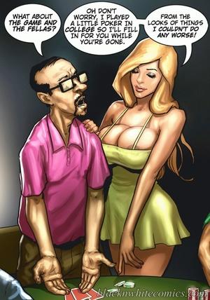 Busty blonde making guys to undress when - XXX Dessert - Picture 2