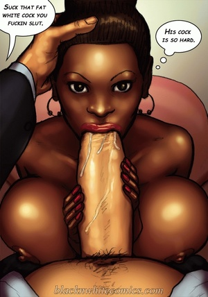Busty black beauty swallows white dick a - XXX Dessert - Picture 4