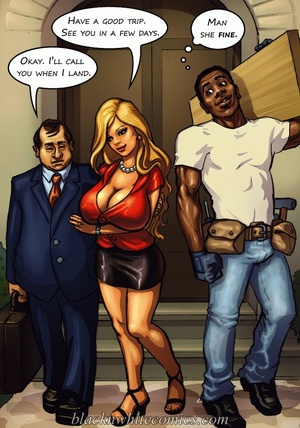 Ponytailed chick meets a black dude with - XXX Dessert - Picture 1